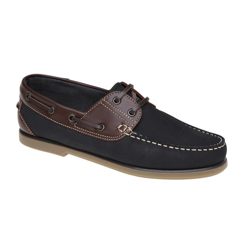 Dek Nubuck Navy/Brown Boat Shoes