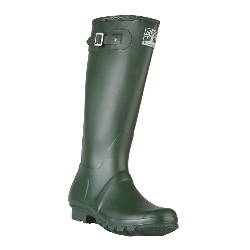 Woodland Navy & Green Wellingtons