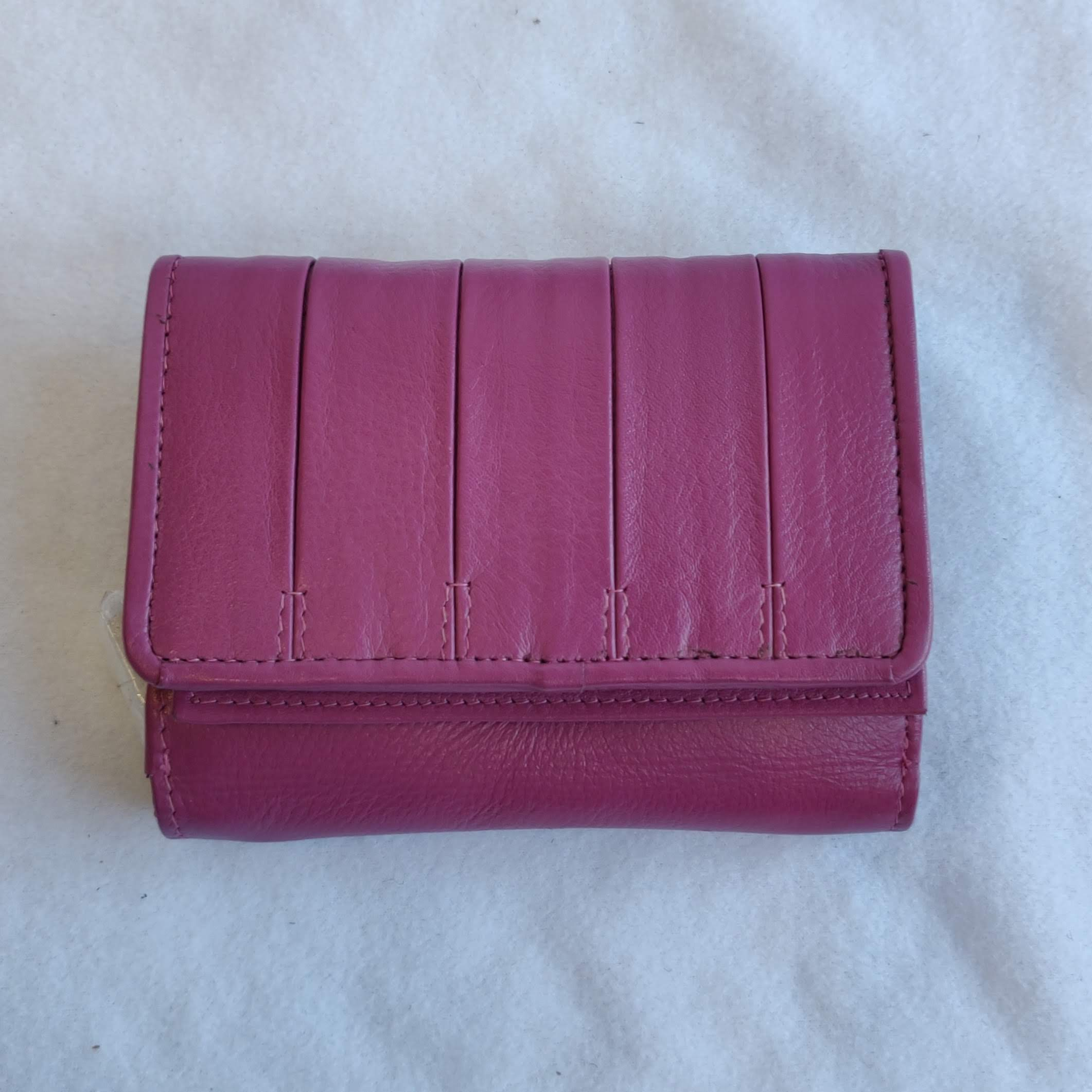 Ladies Leather Purse Pink/Fushia 603269