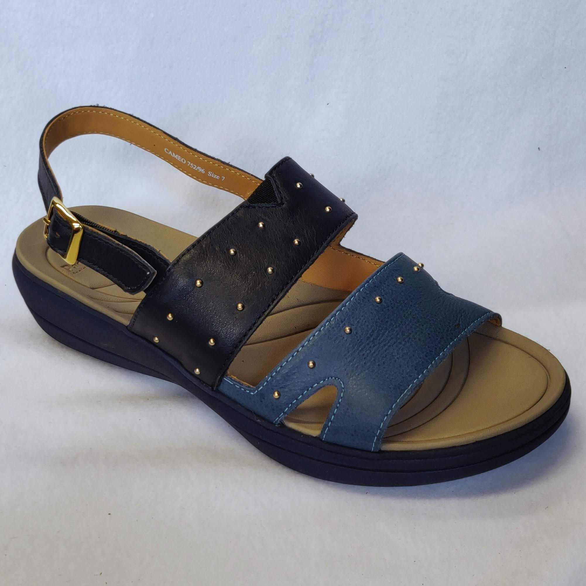 Ladies Padders Cameo Navy Sandals Size 7