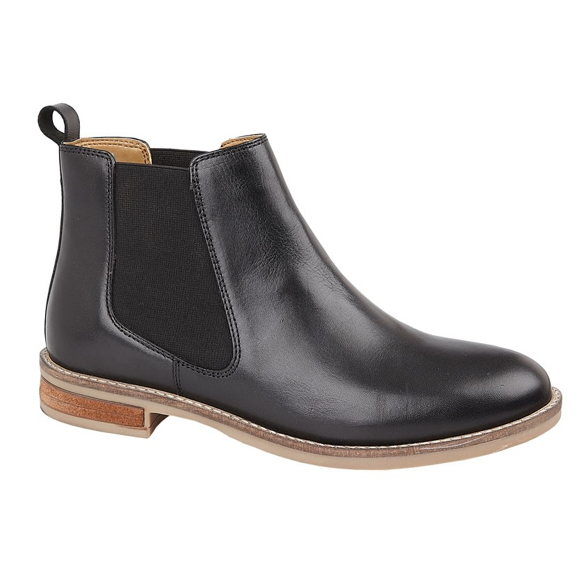 Ladies Leather Gusset Ankle Boots