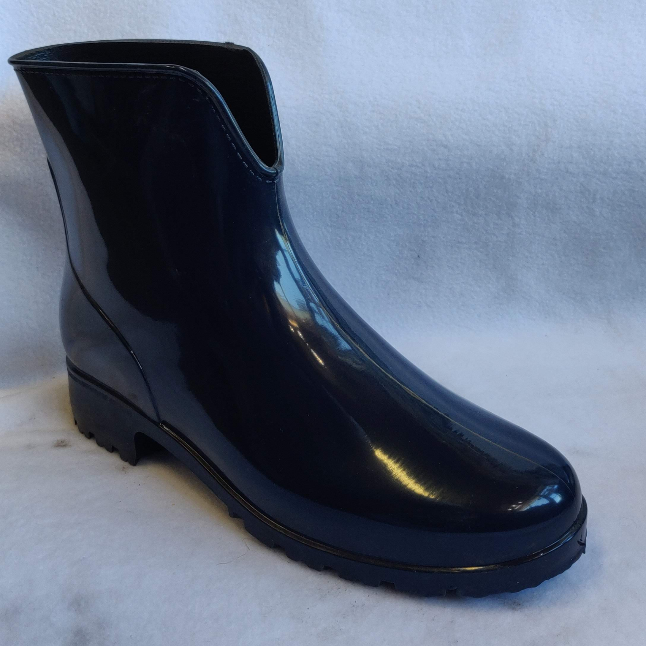 Ladies Navy Ankle Wellingtons