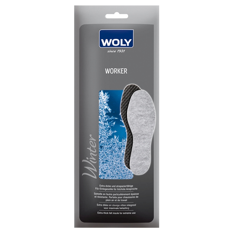 Woly Extra Thick Workers Felt Insoles Size 8