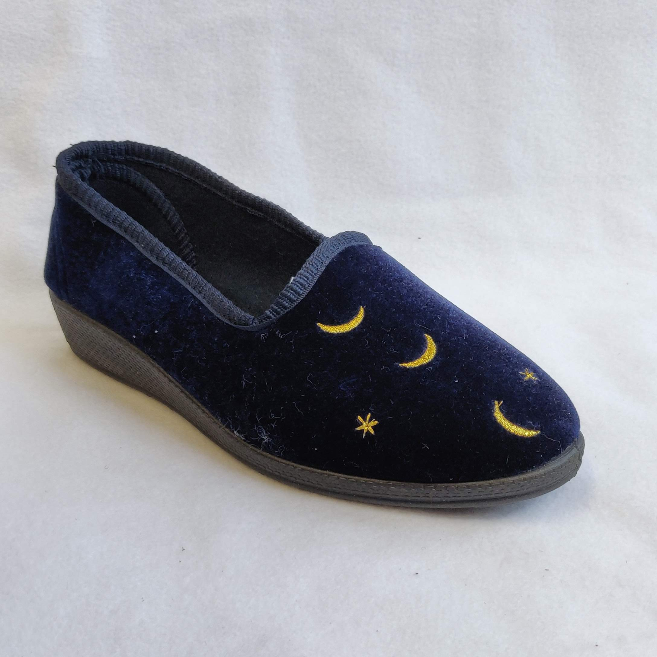 Ladies Gianina Navy Slippers