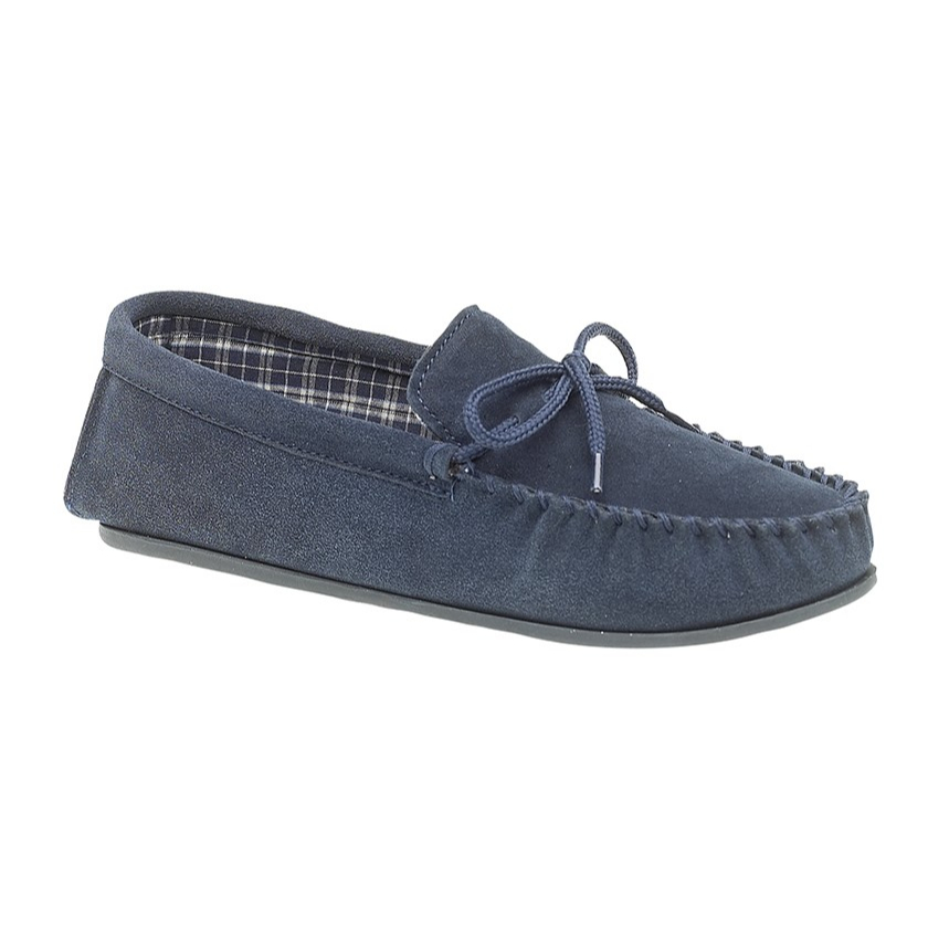 Mokkers Gents Navy Suede Slippers
