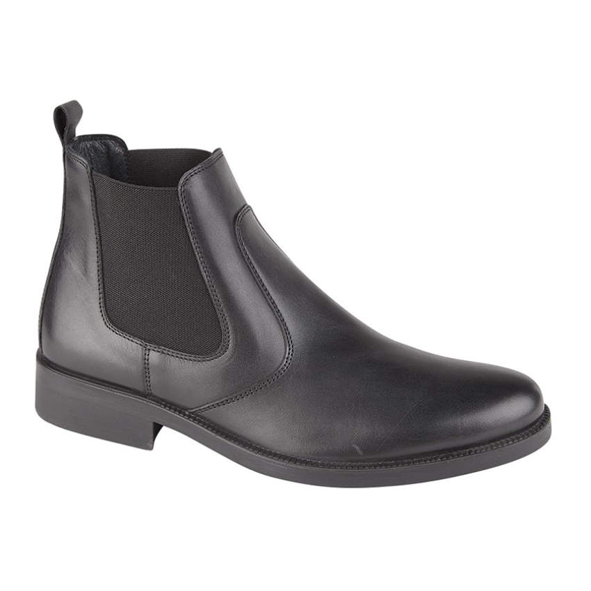 Imac Gents Black Leather Boots Size 44 (10)