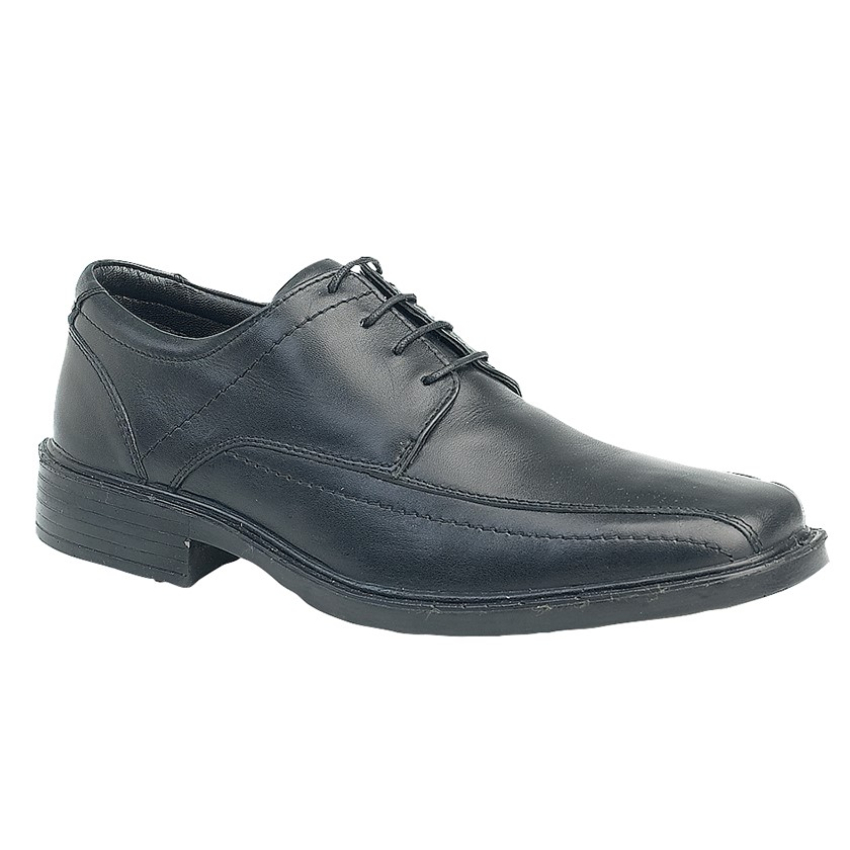 Gents Roamers Black Leather Lace Up