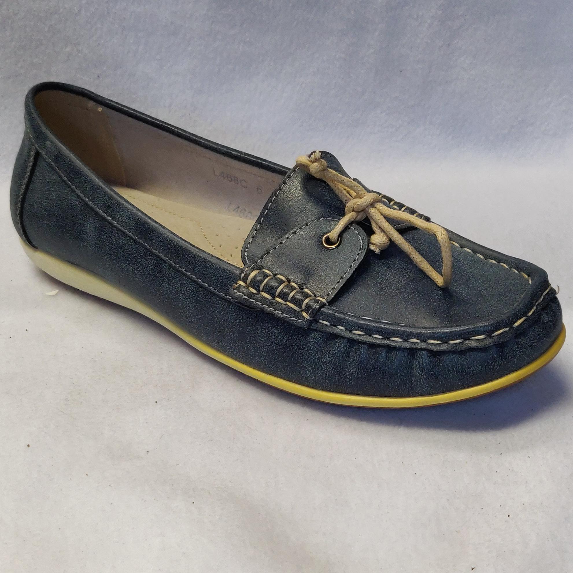 Ladies Boulevard Denim Blue Slip On L468CZ