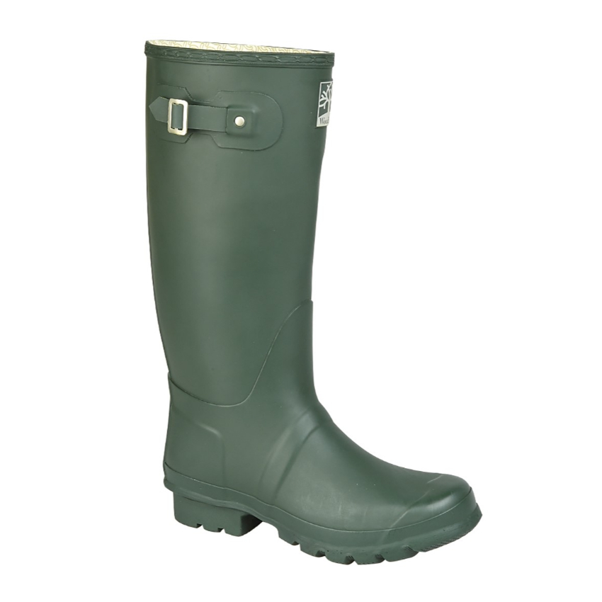 Woodland Wide Fit Green Wellingtons