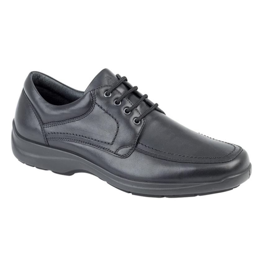Imac Gents Black Leather Lace Ups Size 43 (9.5)