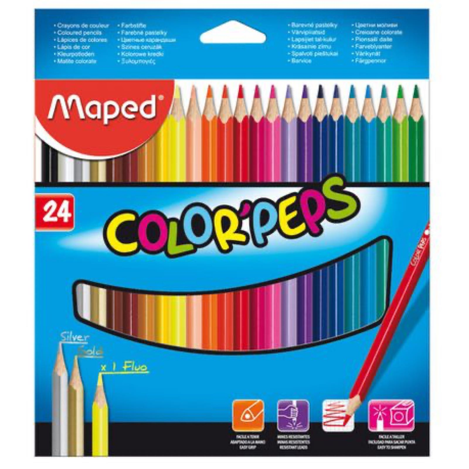 Coloured Pencils 24 Pack - COLORPEPS