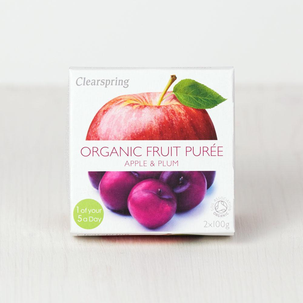 Clearspring Organic Fruit Puree - Apple & Plum
