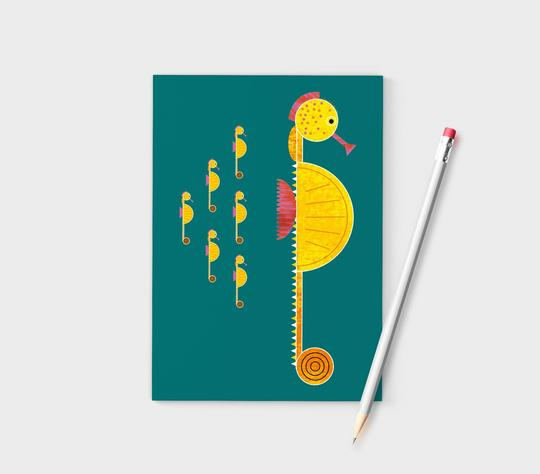 Ellie Good A6 Seahorse Recycled Notebook