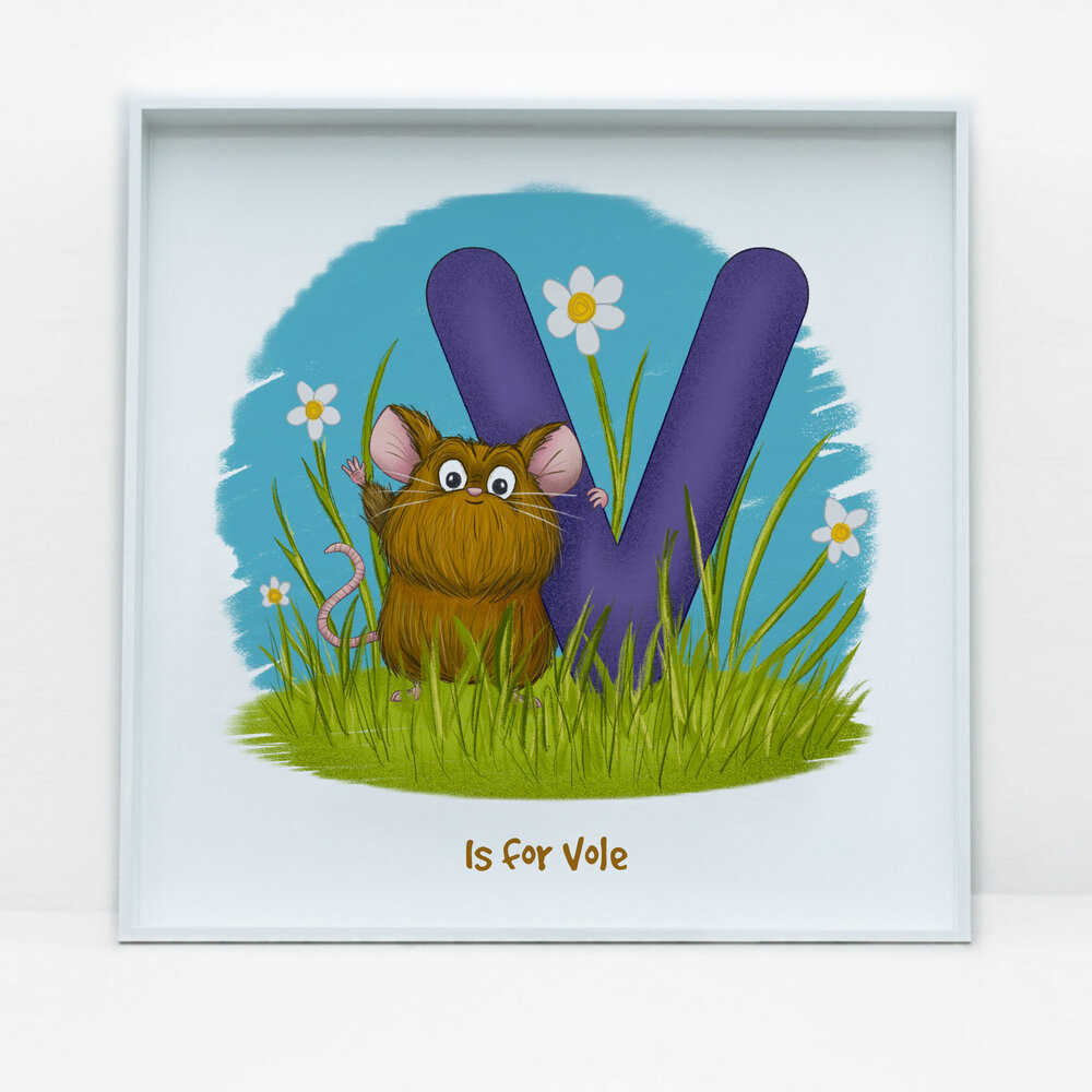 SDB Illustration_V is for Vole