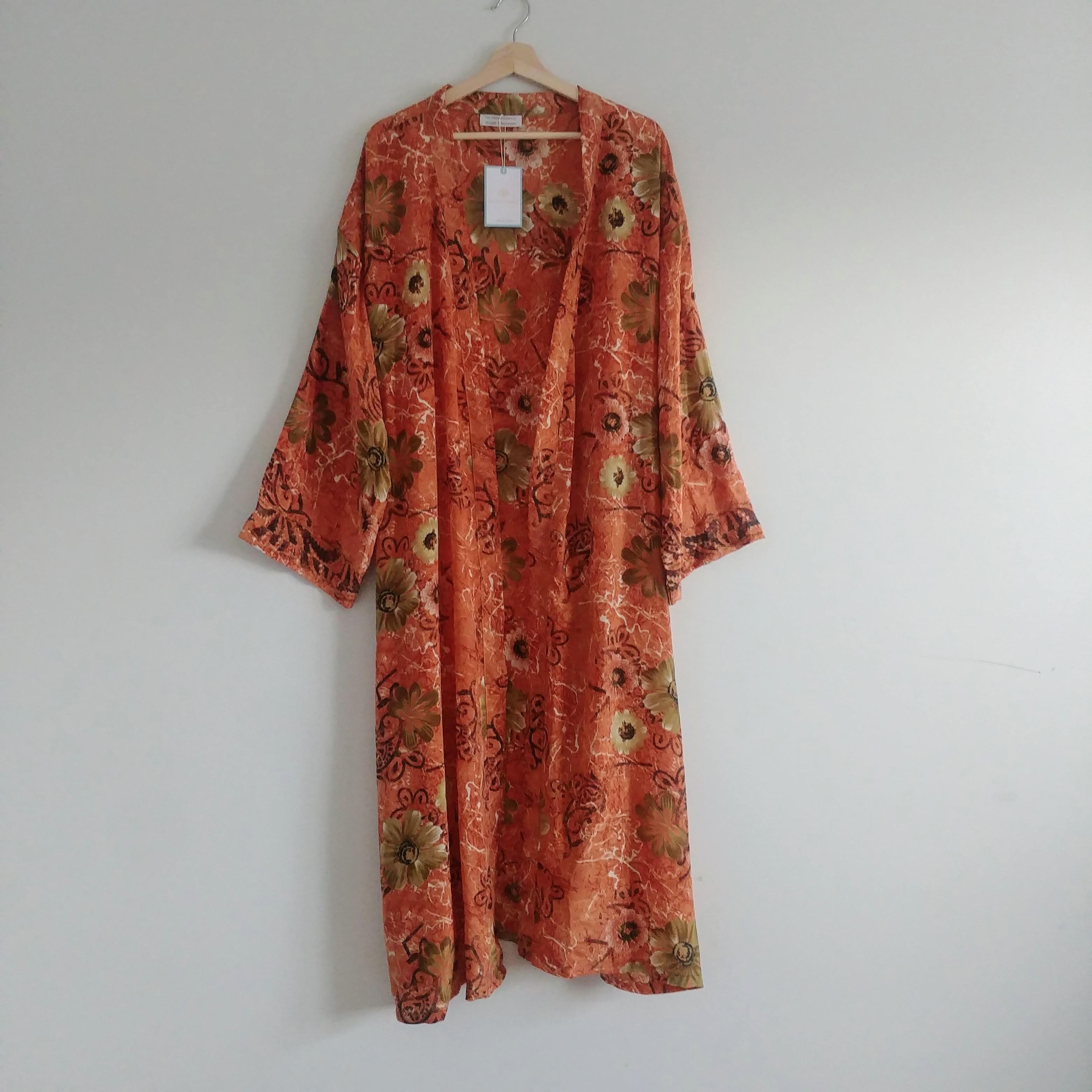 The Kimono Company - Long Kimono, Terracotta