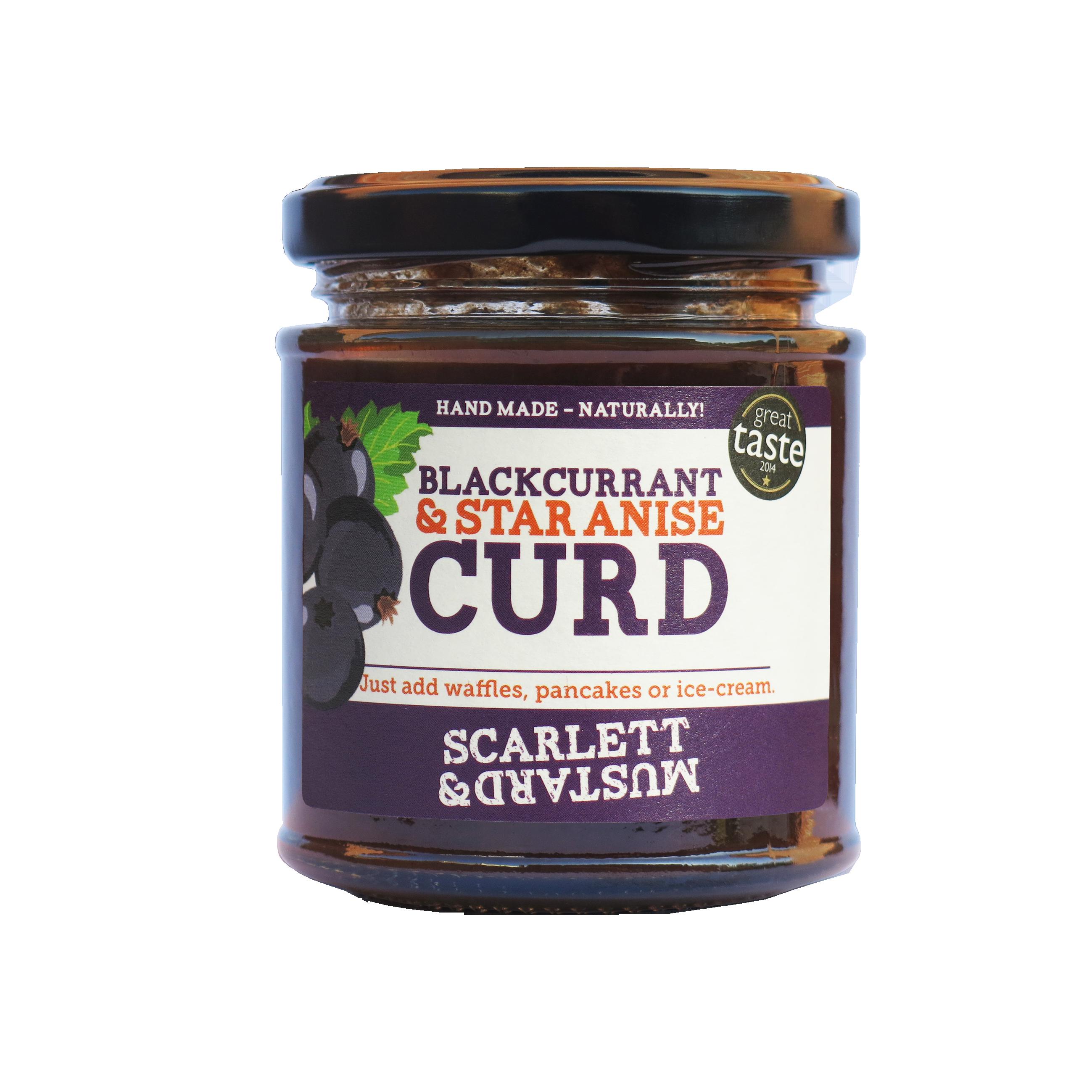 Scarlett & Mustard Blackcurrant & Star Anise Curd