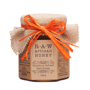 Raw Artisan Cinnamon Infused Honey