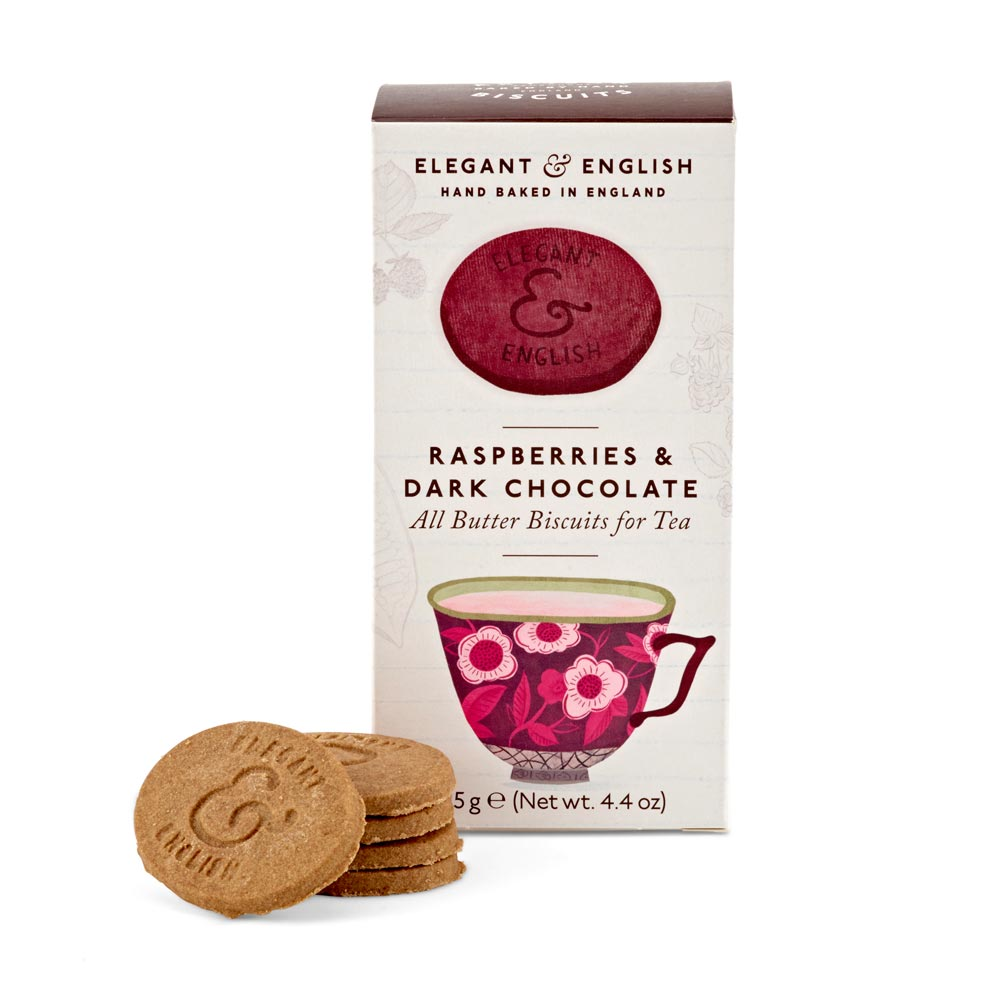 Artisan Biscuits Elegant & English Raspberries & Dark Chocolate