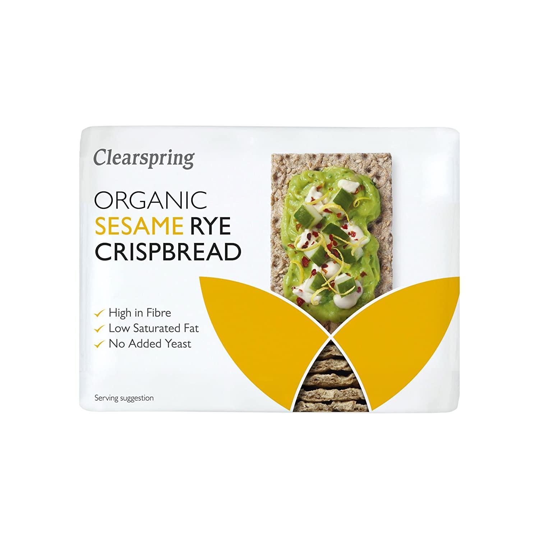 Clearspring Organic Sesame Rye Crispbread