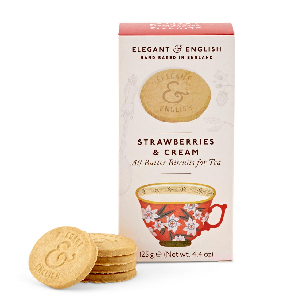 Artisan Biscuits Elegant & English Strawberries & Cream