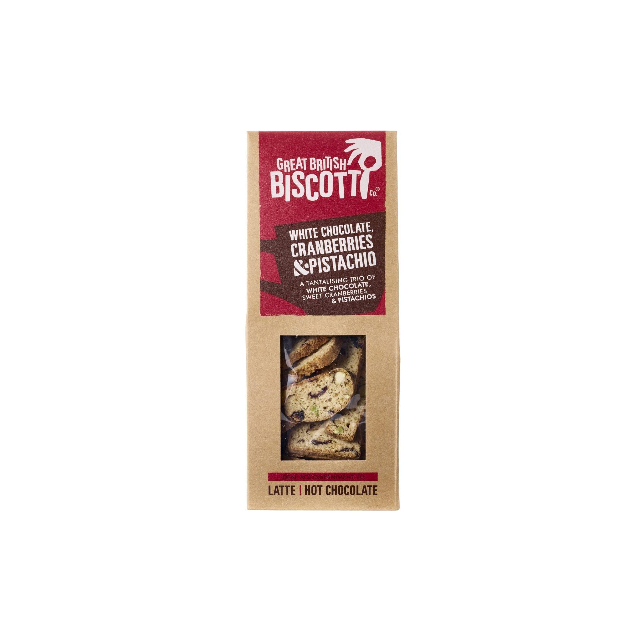 Great British Biscotti White Chocolate, Cranberry & Pistachio