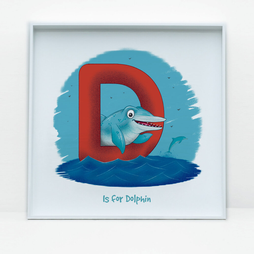 SDB Illustration_D is for Dolphin