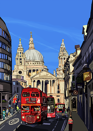 Tomartacus Print St Paul's Cathedral