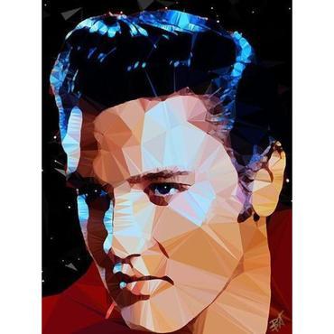 Egoiste Gallery Elvis Signed A4 Print