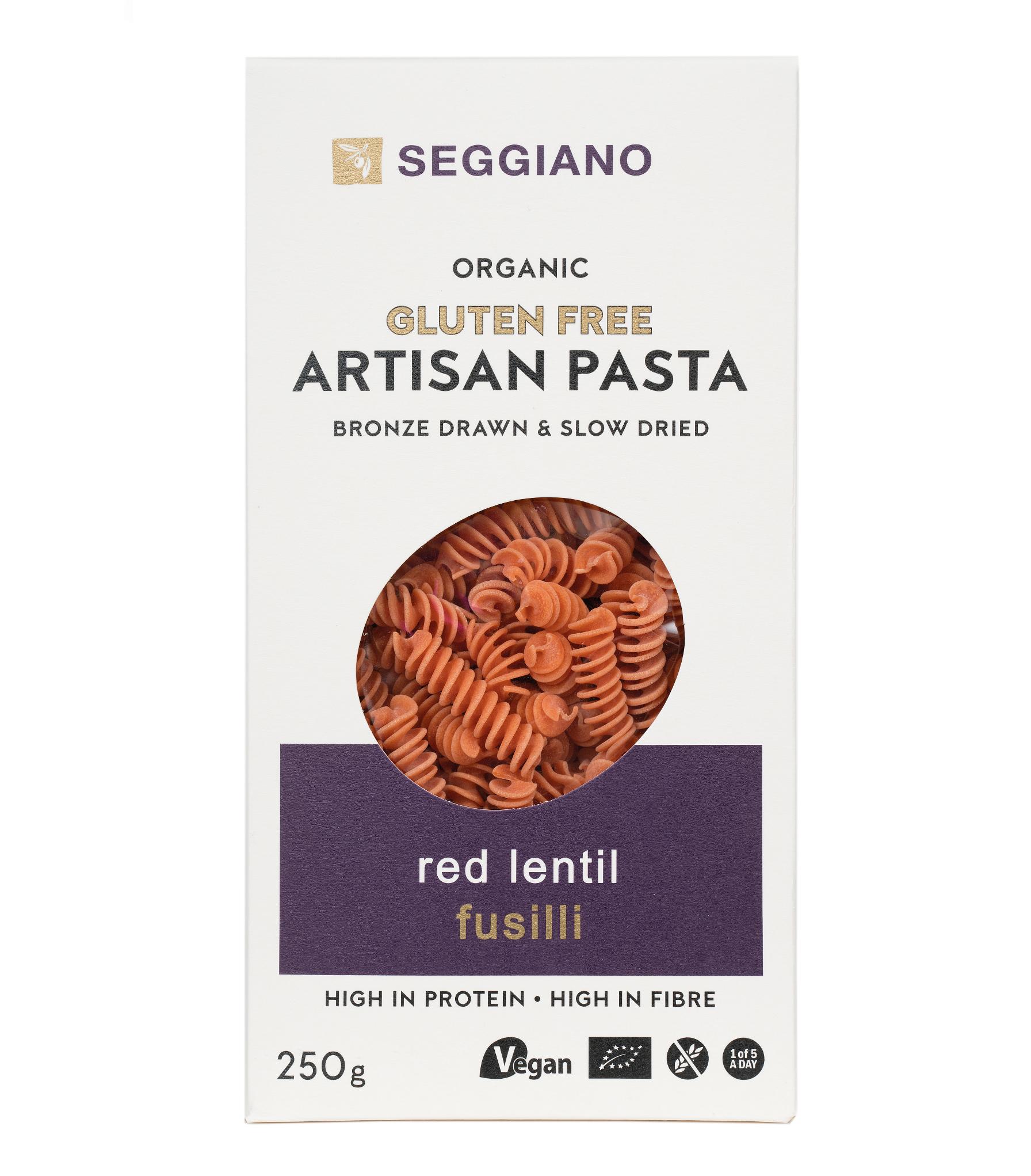 Seggiano Organic Red Lentil Fusilli
