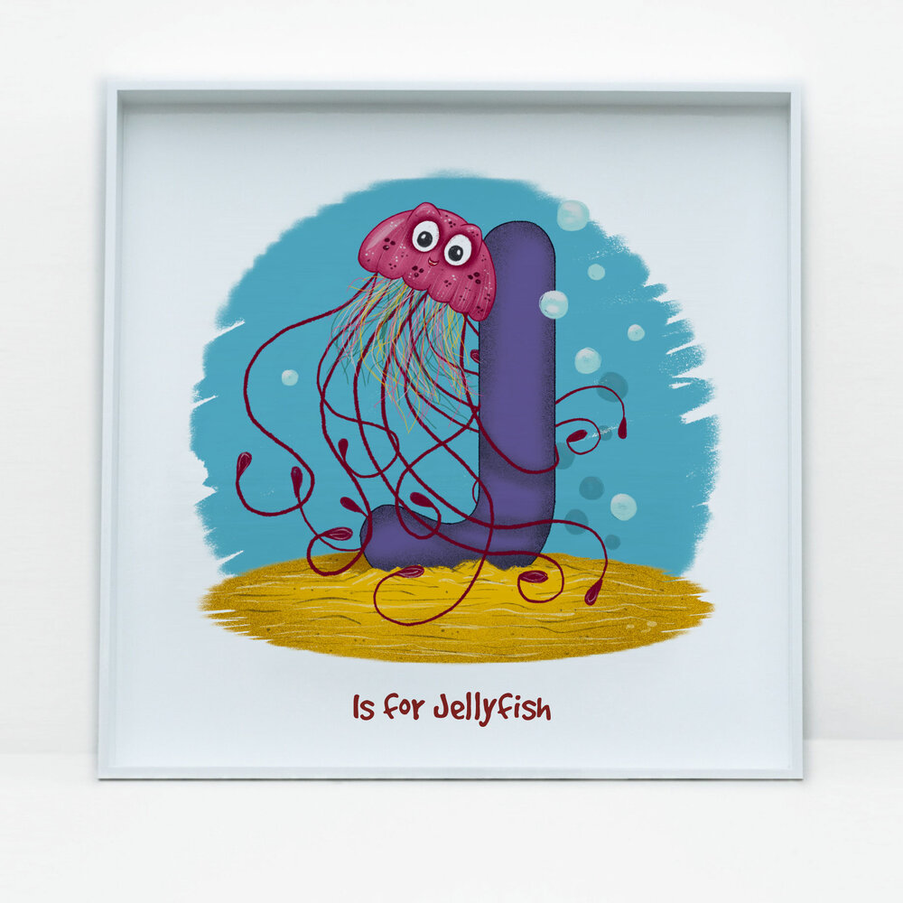 SDB Illustration_J is for Jellyfish