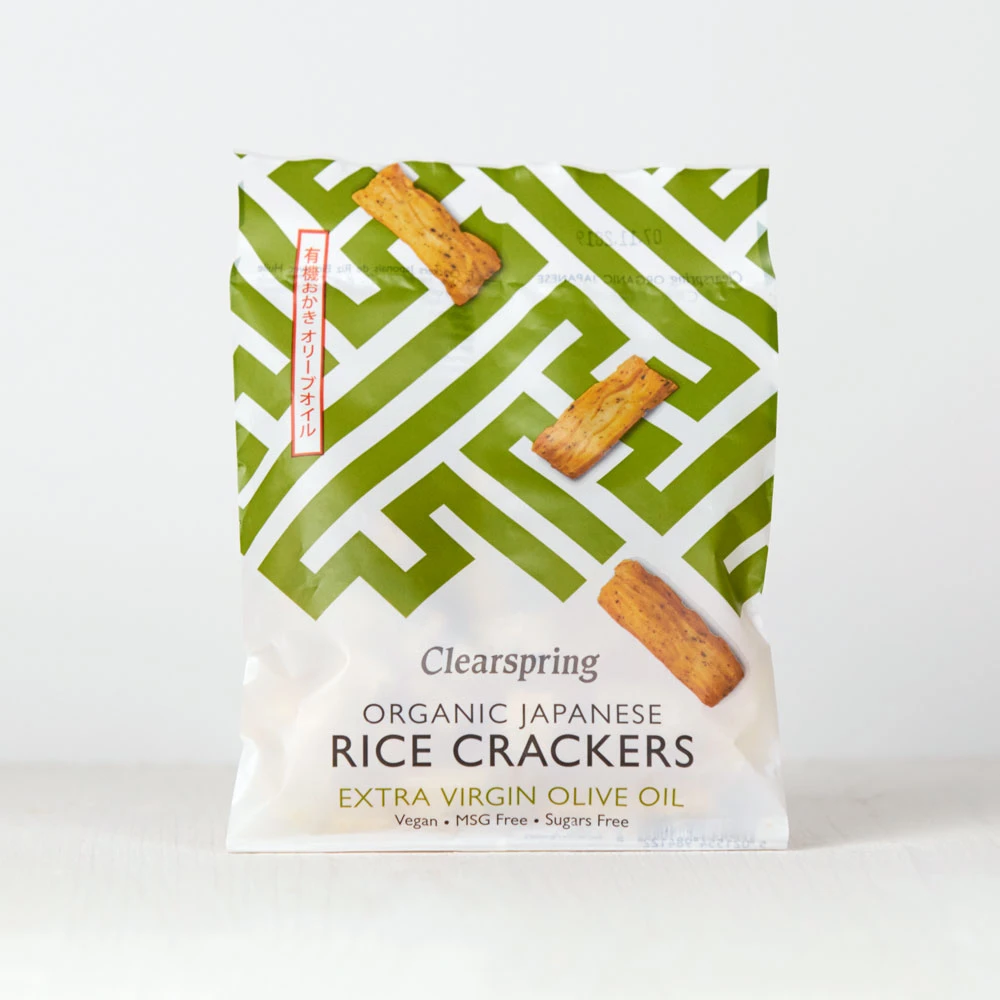 Clearspring Japanese Extra Virgin Olive Oil Rice Crackers
