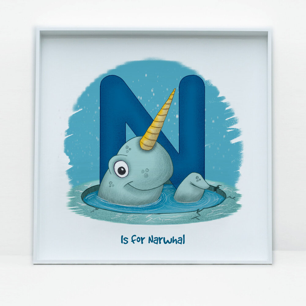 SDB Illustration_N is for Narwhal