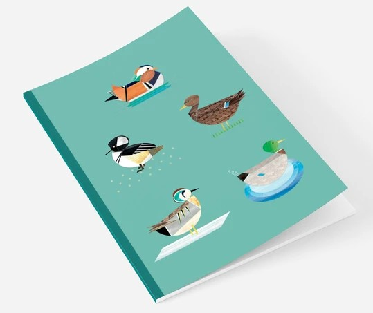 Ellie Good A5 Duck Recycled Notebook