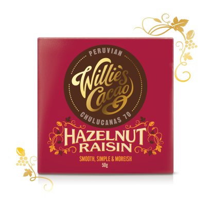 Willie's Cacao Hazlenut & Raisin