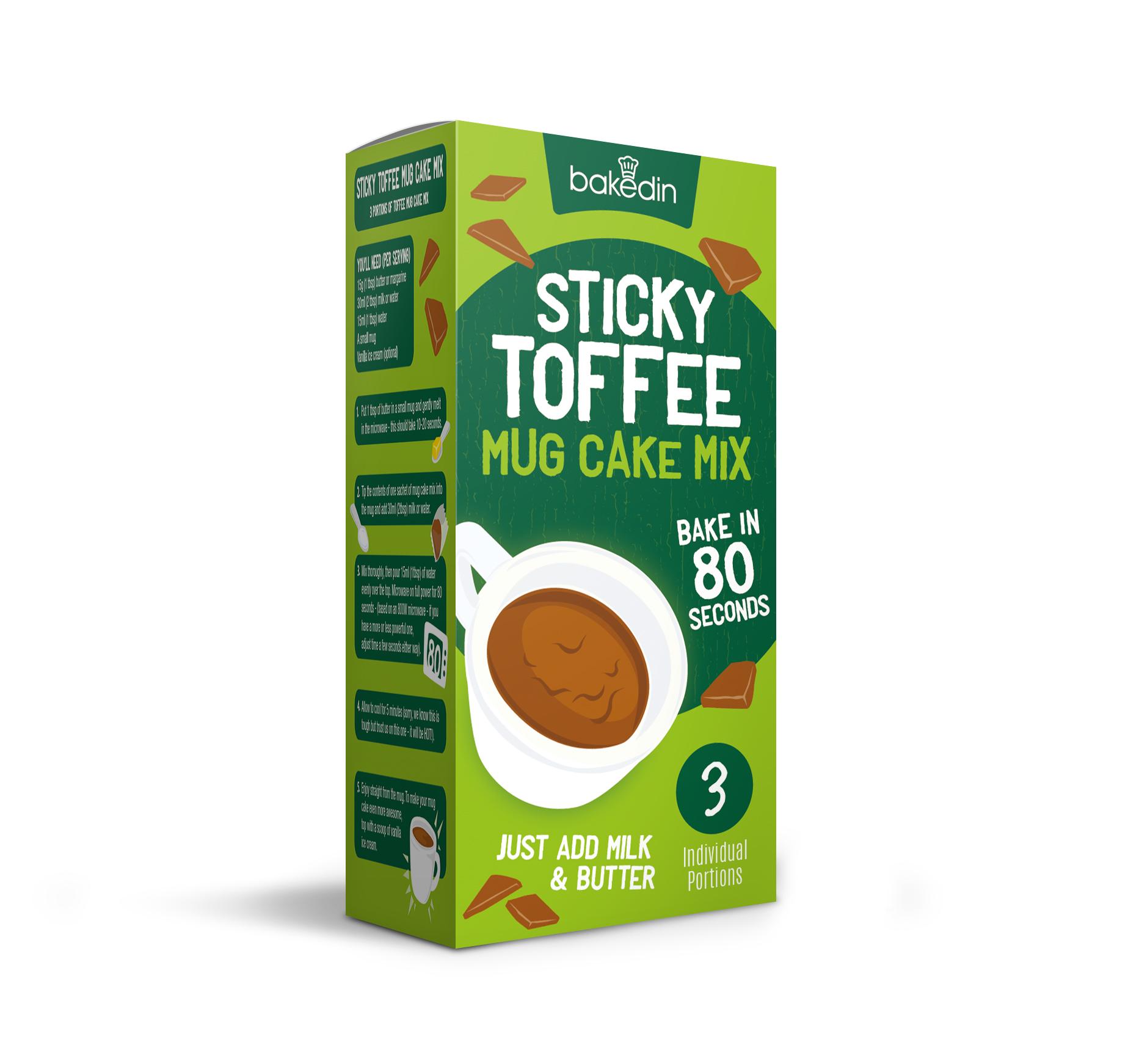 Baked In Sticky Toffee Mug Cake Mix