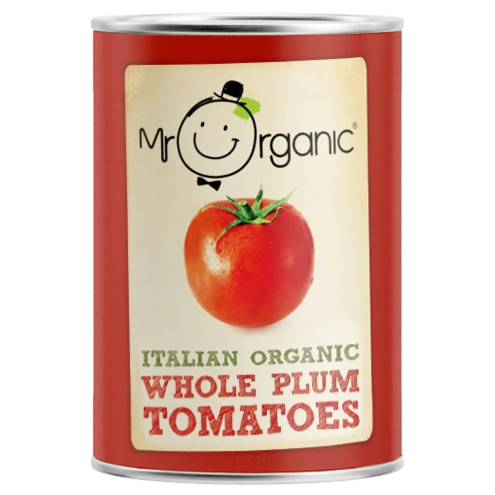 Mr Organic Italian Whole Plum Tomatoes