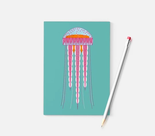Ellie Good A6 Jellyfish Recycled Notebook