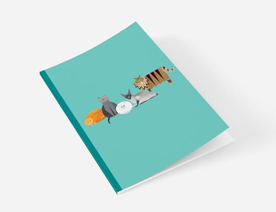 Ellie Good A5 Cat Recycled Notebook