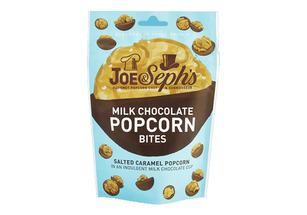 Joe and Sephs Milk Chocolate Popcorn Bites