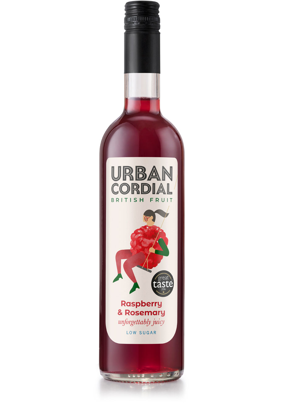 Urban Cordial Raspberry and Rosemary