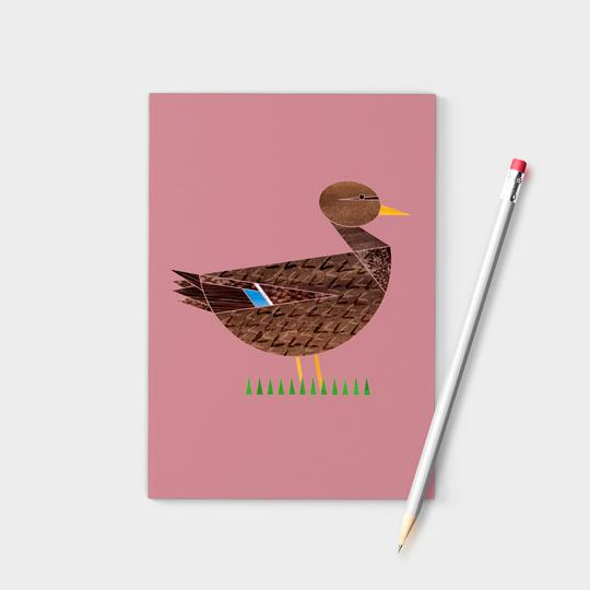Ellie Good A6 Mrs Duck Recycled Notebook