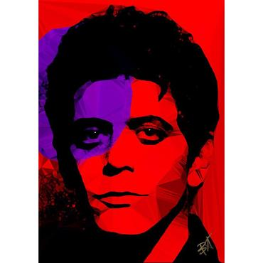 Egoiste Gallery Lou Reed Signed A3 Print