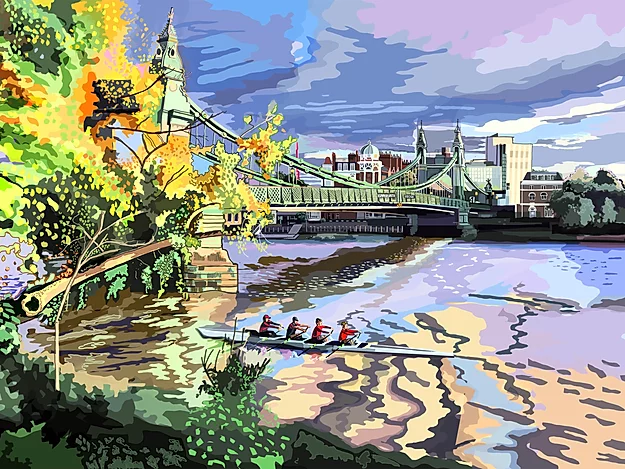 Tomartacus Print Hammersmith Bridge