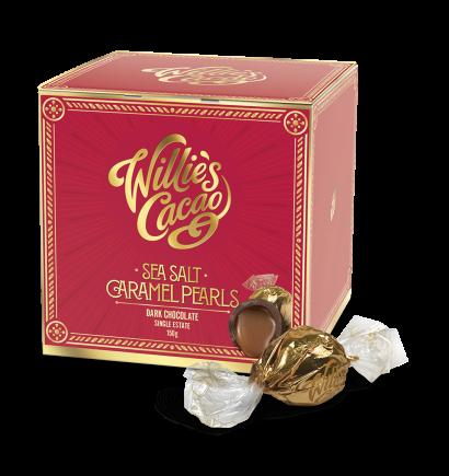 Willie's Cacao Sea Salt Dark Caramel Pearls