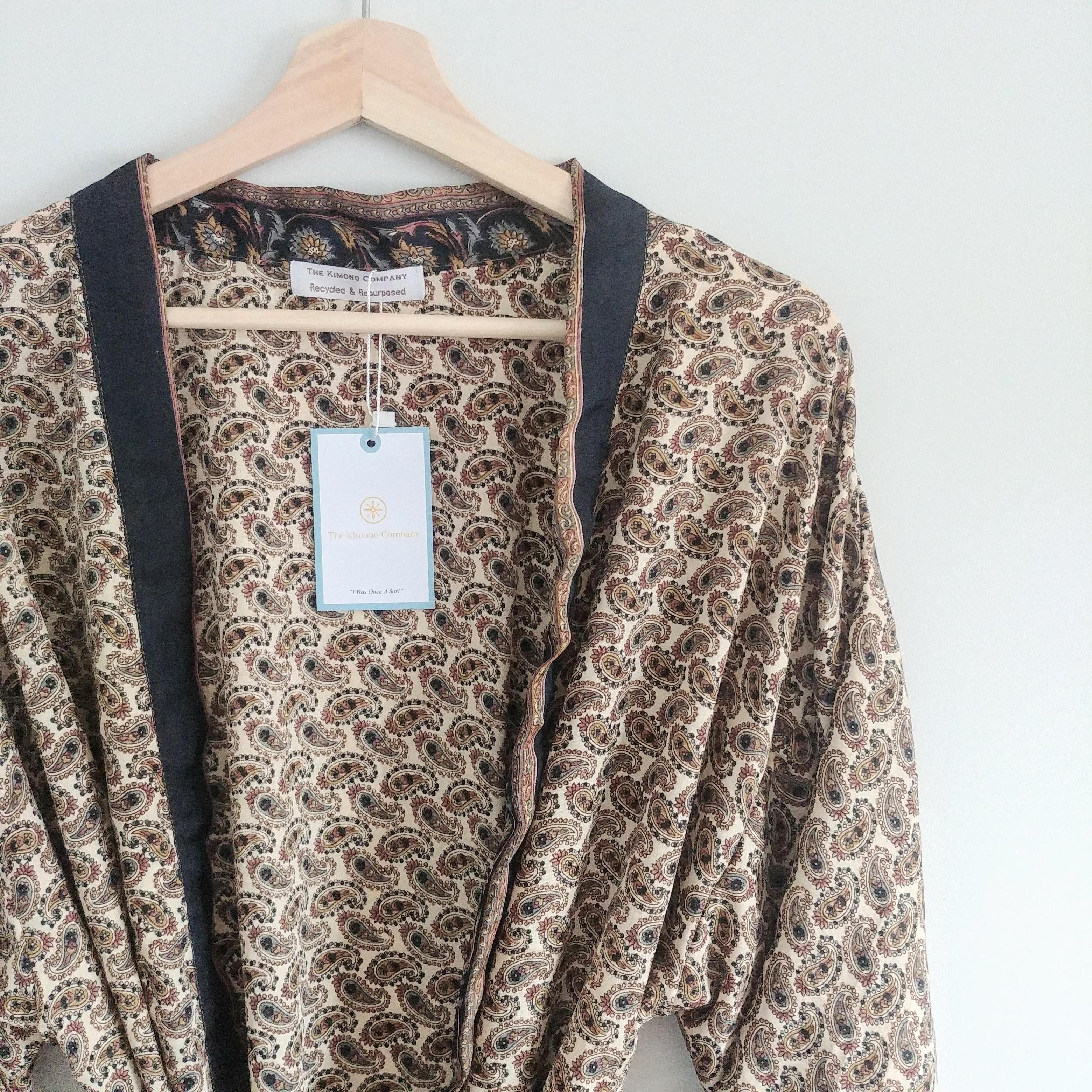 The Kimono Company - Short Kimono, Paisley Latte