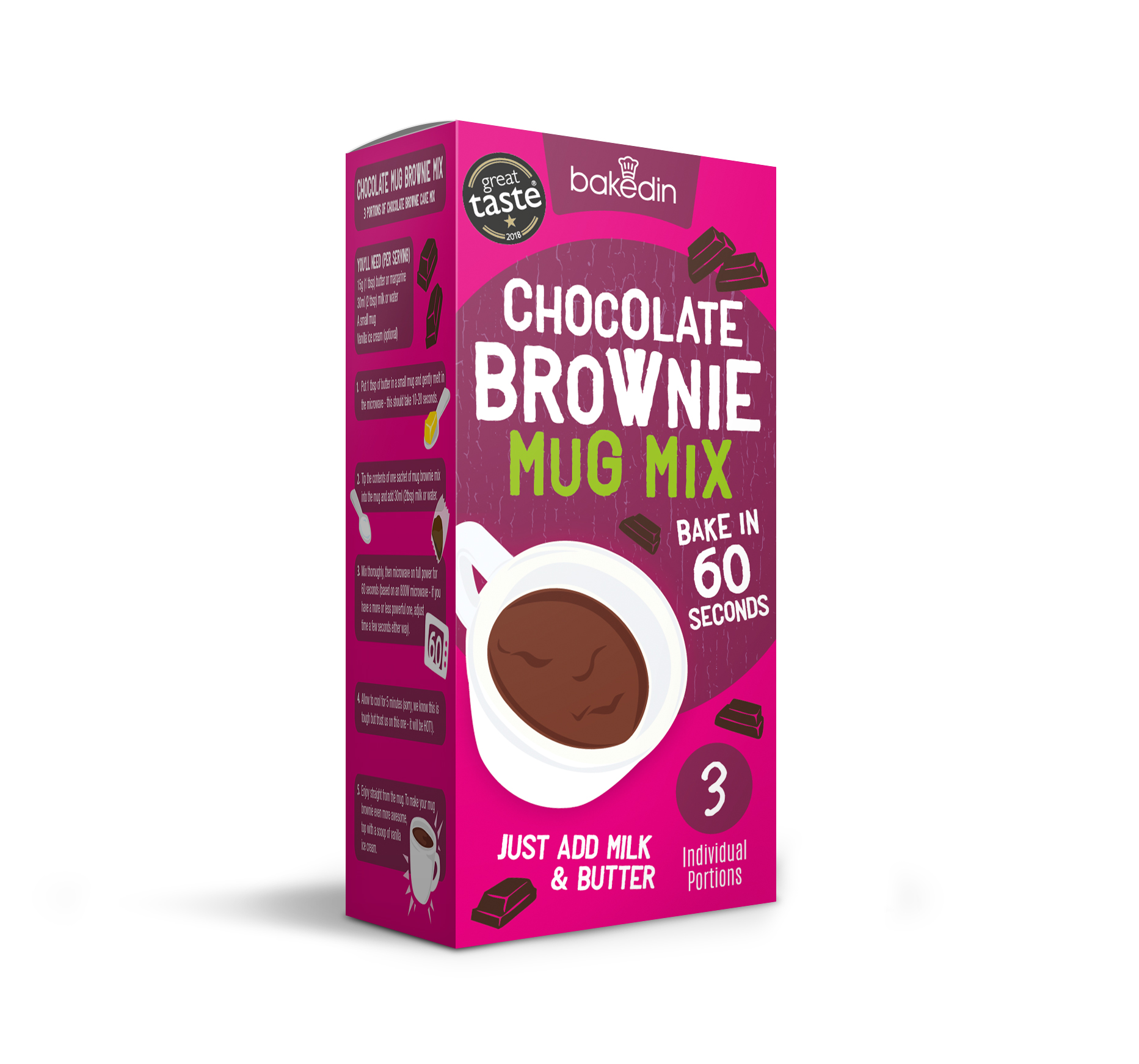 Baked In Chocolate Brownie Mug Mix