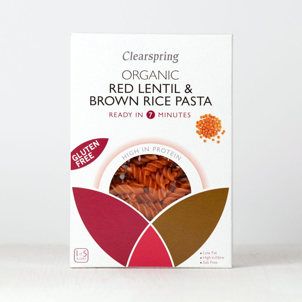 Clearspring Red Lentil & Brown Rice Pasta (Fusilli)