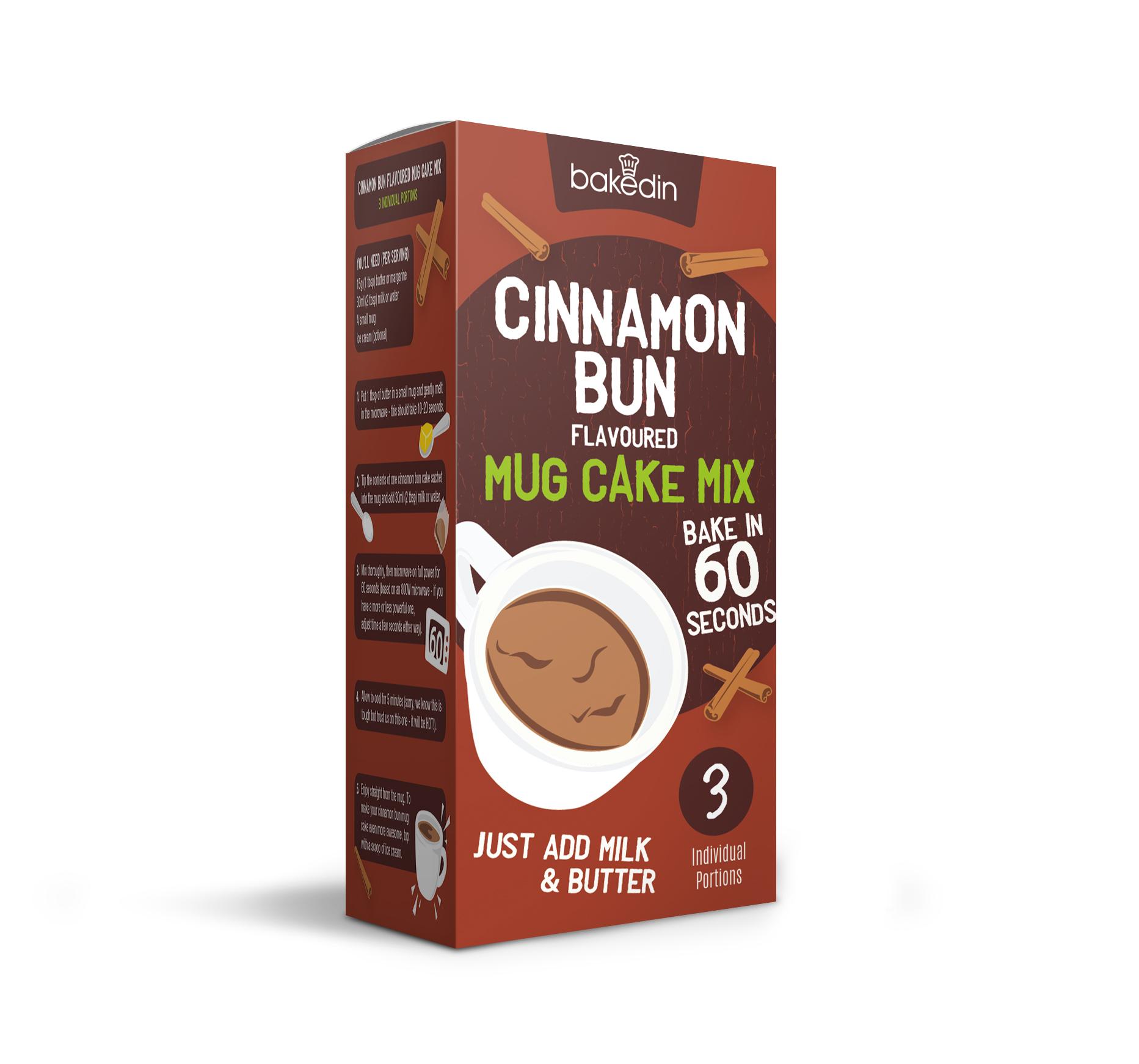 Baked In Cinnamon Bun Mug Cake Mix