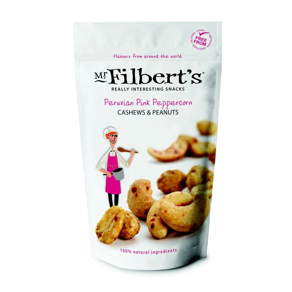 Mr Filberts Peruvian Pink Peppercorn Cashews & Peanuts