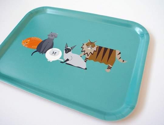 Ellie Good Small Cats Tea Tray
